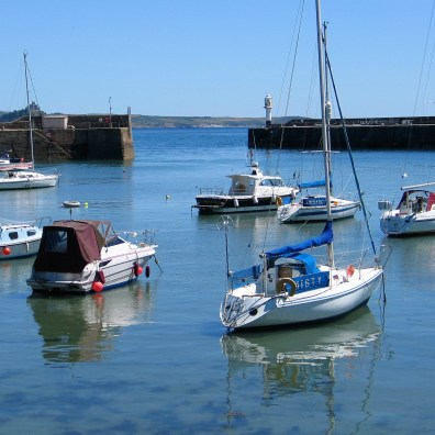 Pleasure craft in Penzance harbour