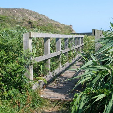 We crossed the little bride at the eatern end of Kennack sands to walk back via the footpath