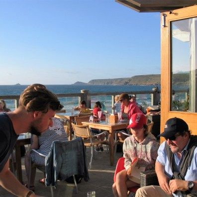 The deck was busy with diners as we picked our way to the entrance