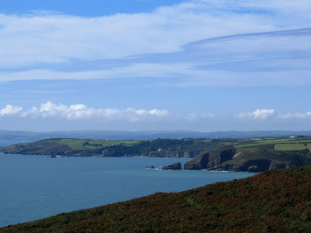 The view to the west across Mounts bay from Rinsey