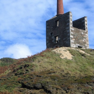 The stuesque Engine house against the blue sky