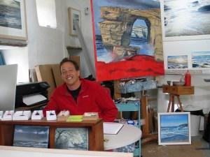Artist in studio - Andrew Giddens
