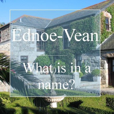 Ednoe-Vean What is in a name? traditional granite farmhouse