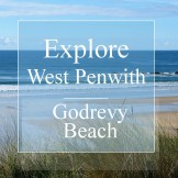 Explore West Penwith Godrevy beach sea and sands