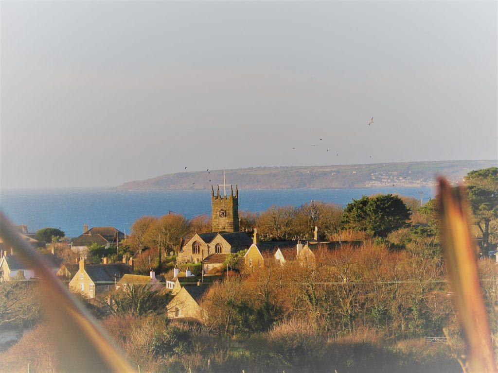 view to perranuthnoe peaceful cornish village by the sea
