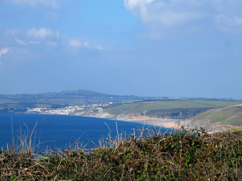 Extensive view towards Loe bar and Porthleven from Gunwalloe