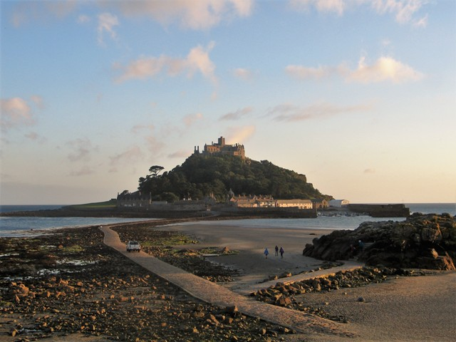 Walk the causeway to St Michael's Mount