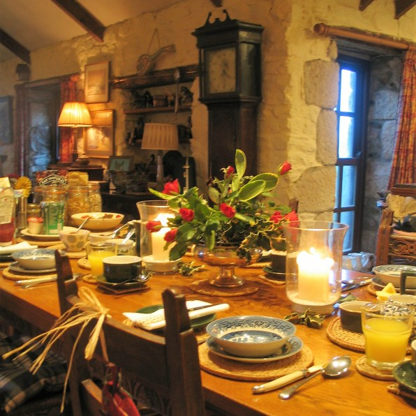 Christmas Breakfast table for our B&B