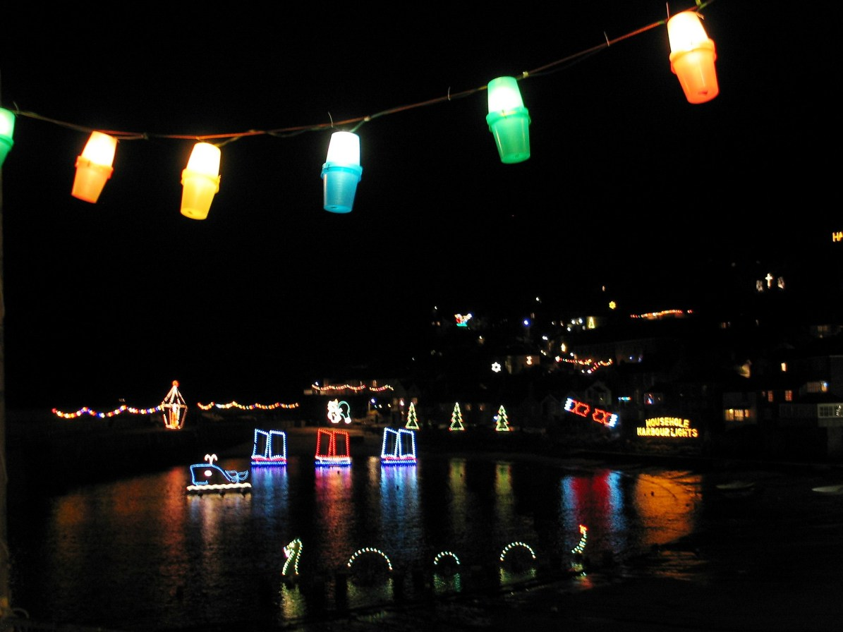 The famous Christmas lights of Mousehole