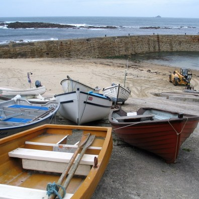 fishing boats on a slipway