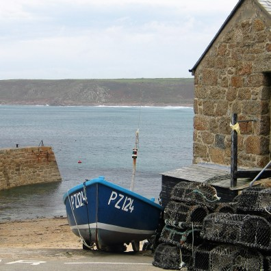 Memories of Sennen fishing boat on a slipway