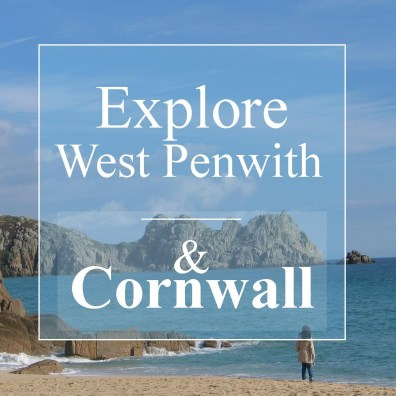 Explore West Penwith and Cornwall lone figure on a beach