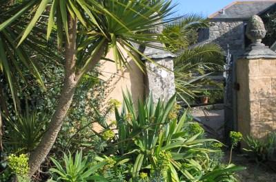 February garden entrance