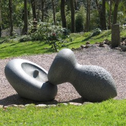 sculpture in a landscape