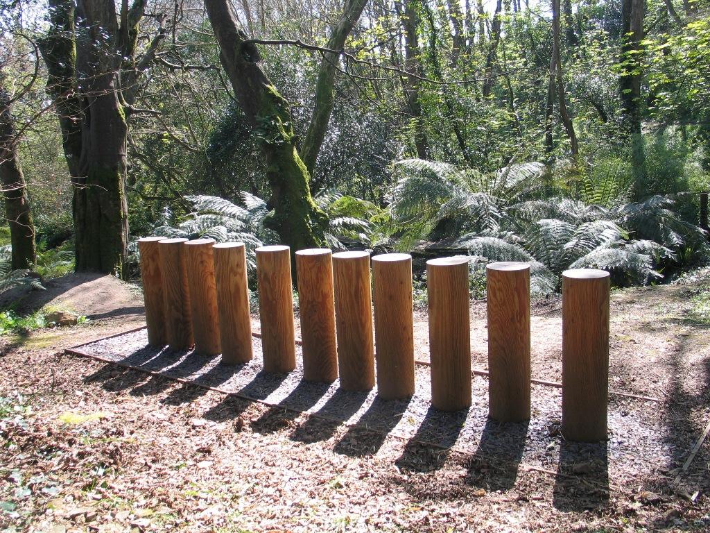 woodland installation by Kishio