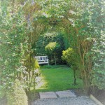 newly formed garden arch