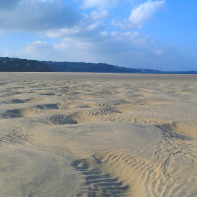 Long expanse of sands at low tide