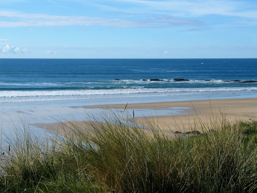 Godrevy Beach was used as a film location fro Rosamunde Pilcher - 4 miles of sands rolling breakers backed by sand dunes