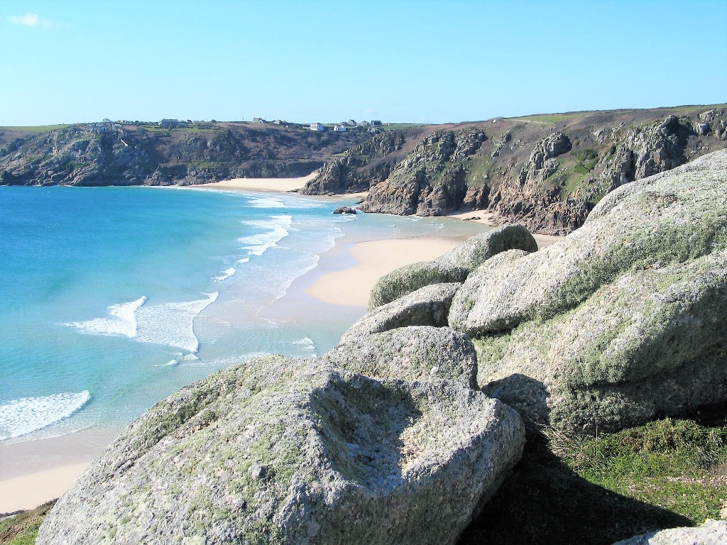 winter walking memoirs, views over empty beaches