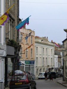 The architecture of Chapel street in Penzance