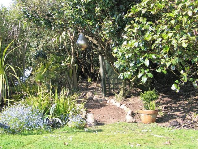 Country garden winding path