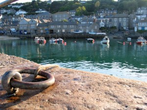 view across Mousehole harbour