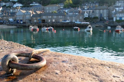 Evening view across Mousehole harbour