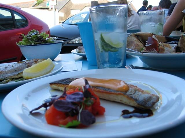 pavement restaurant - seafood tapas Newlyn