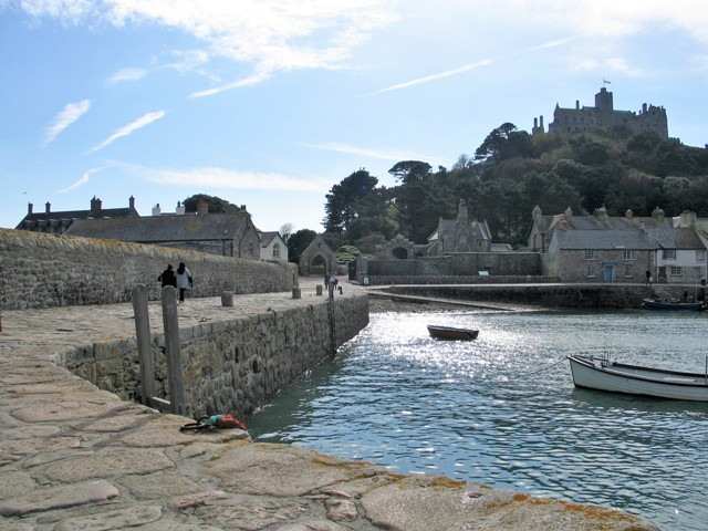 When visitng St Michael's Mount by boat you arrrive at the island own Harbour
