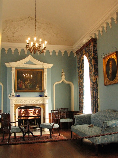 Elegant Blue Drawing Room