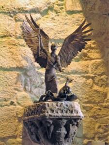 Bronze of St Michael the archangel