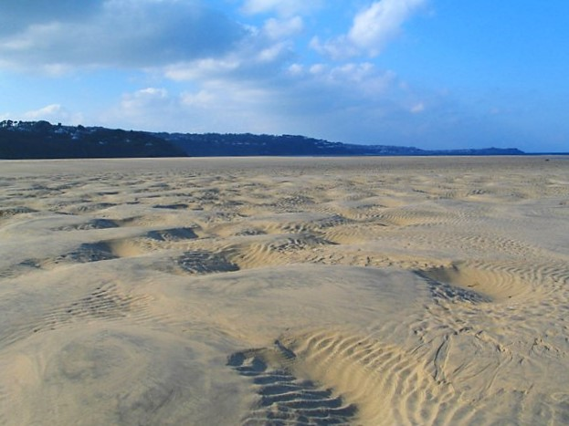 Sands rutted by the tide
