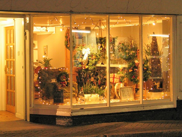 Christmas shop front Penzance