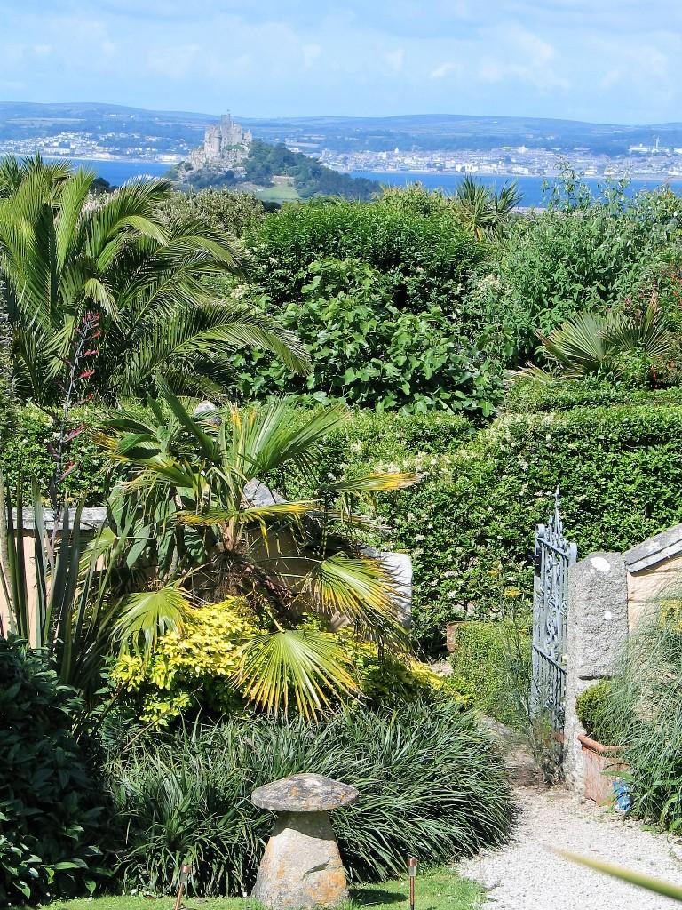 Ednovean Farm courtyard garden today