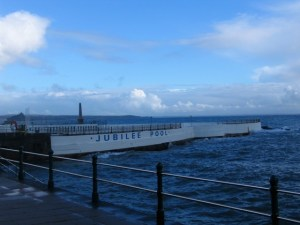 winter view of the Penzance Lido