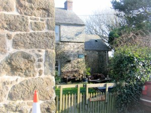 cottage beside footpath Treen