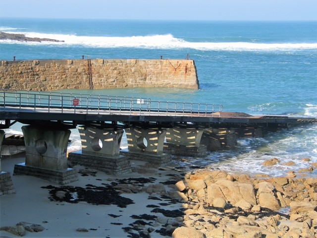 Sennen lifeboat slip and harbour