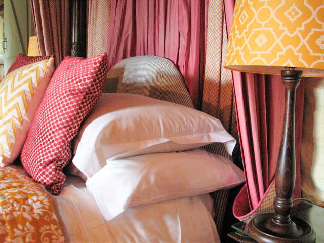 bed piled with pillows - last minute easter