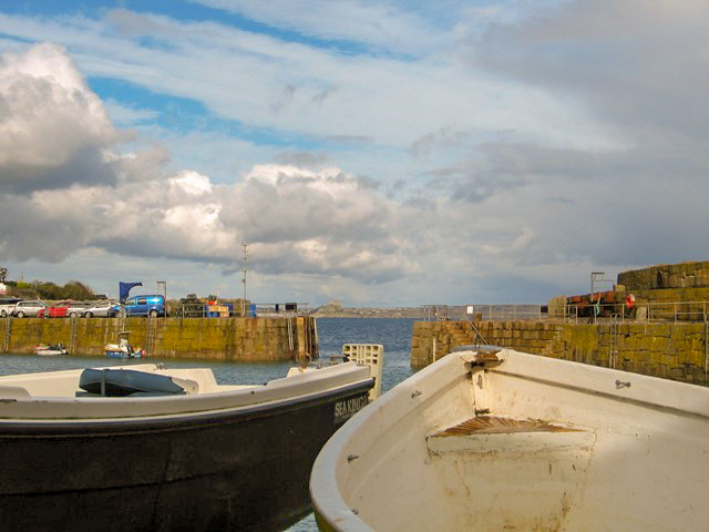 Small boats on the Mousehole harbour