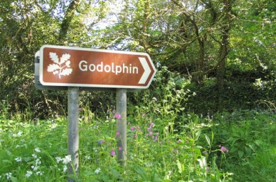 National Trust brown sign -godolphin