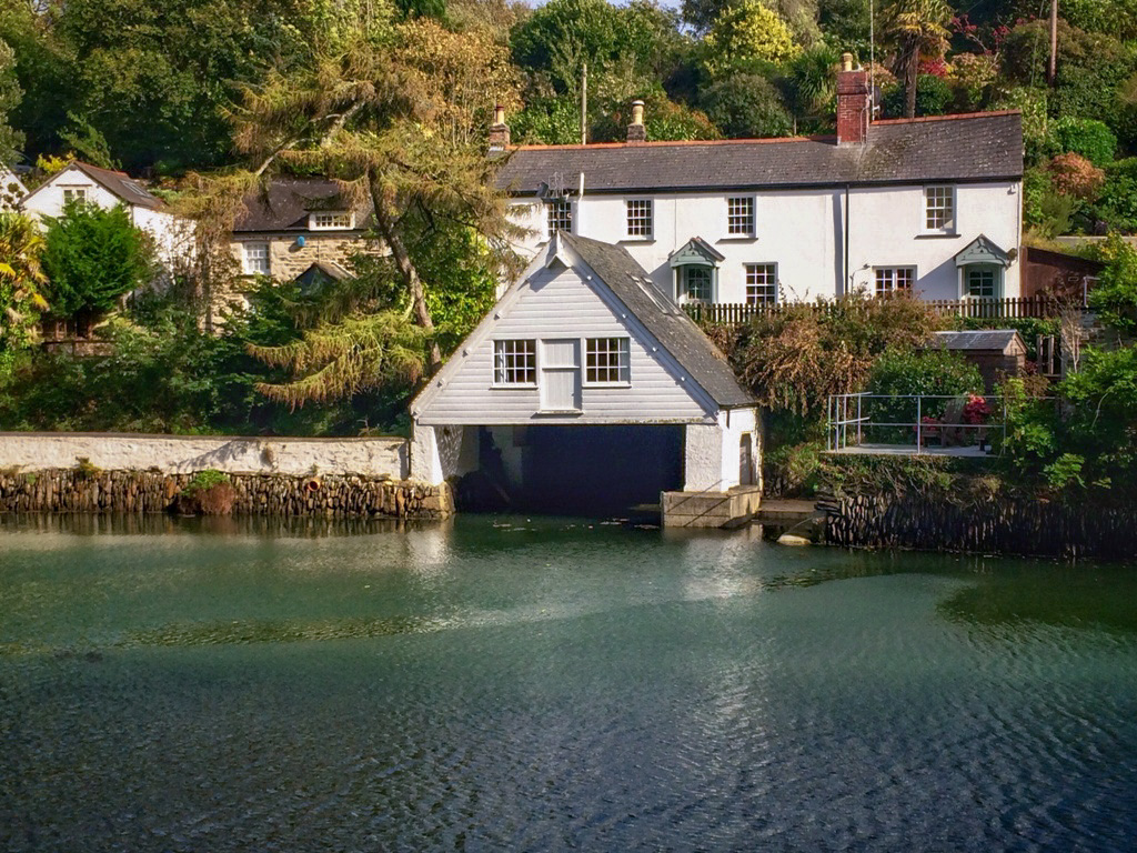 A boat house near the ford in Helford village