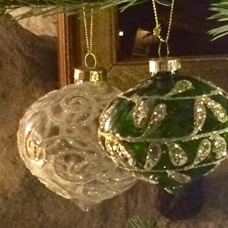 Glass baubles inspire a Christmas blog