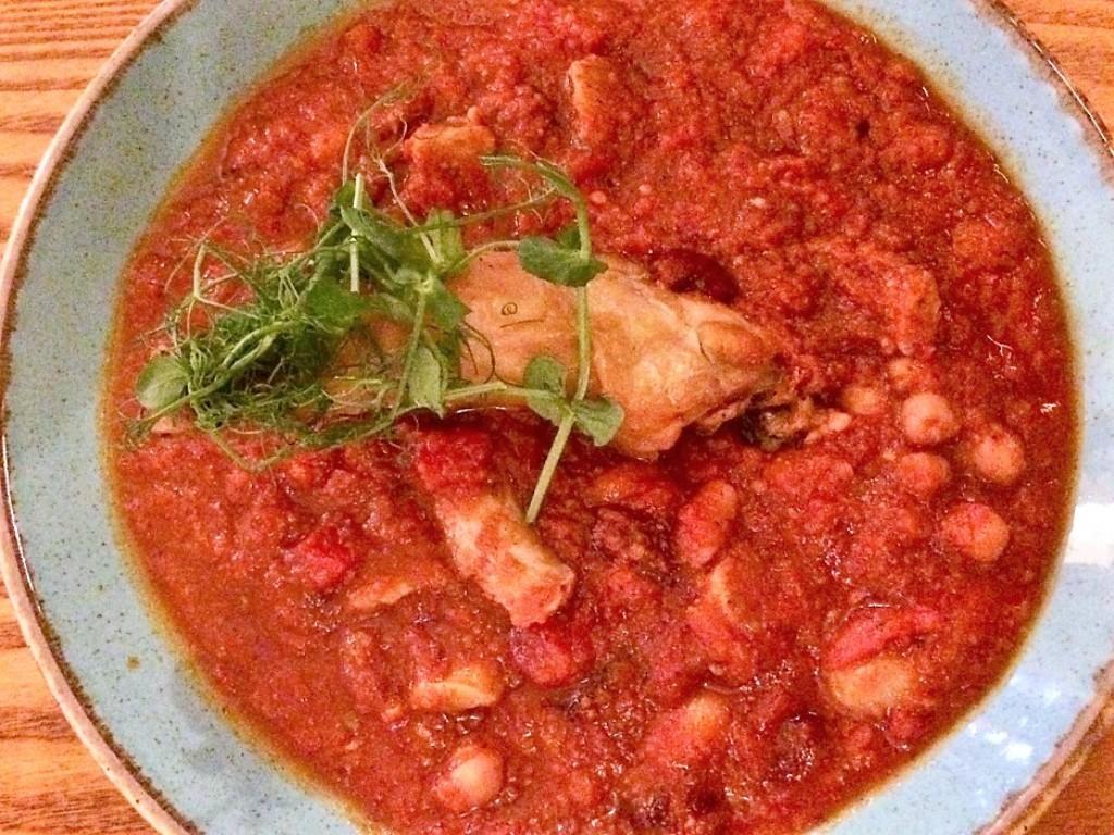 Mediterranean style food - pub supper The Cutty Sark