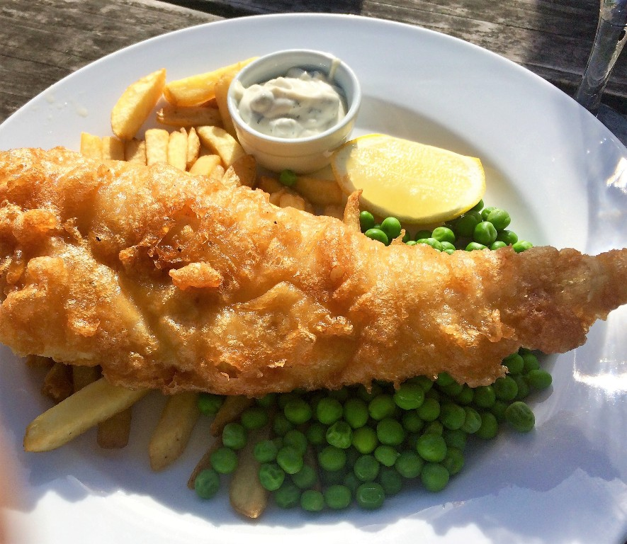 Fish and Chips - riverside pub Helford