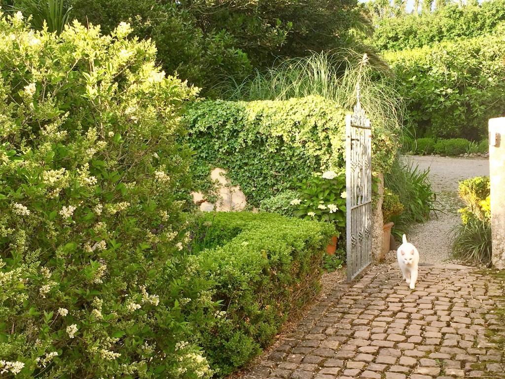 Carefully chosen reclaimed materials for a garden path