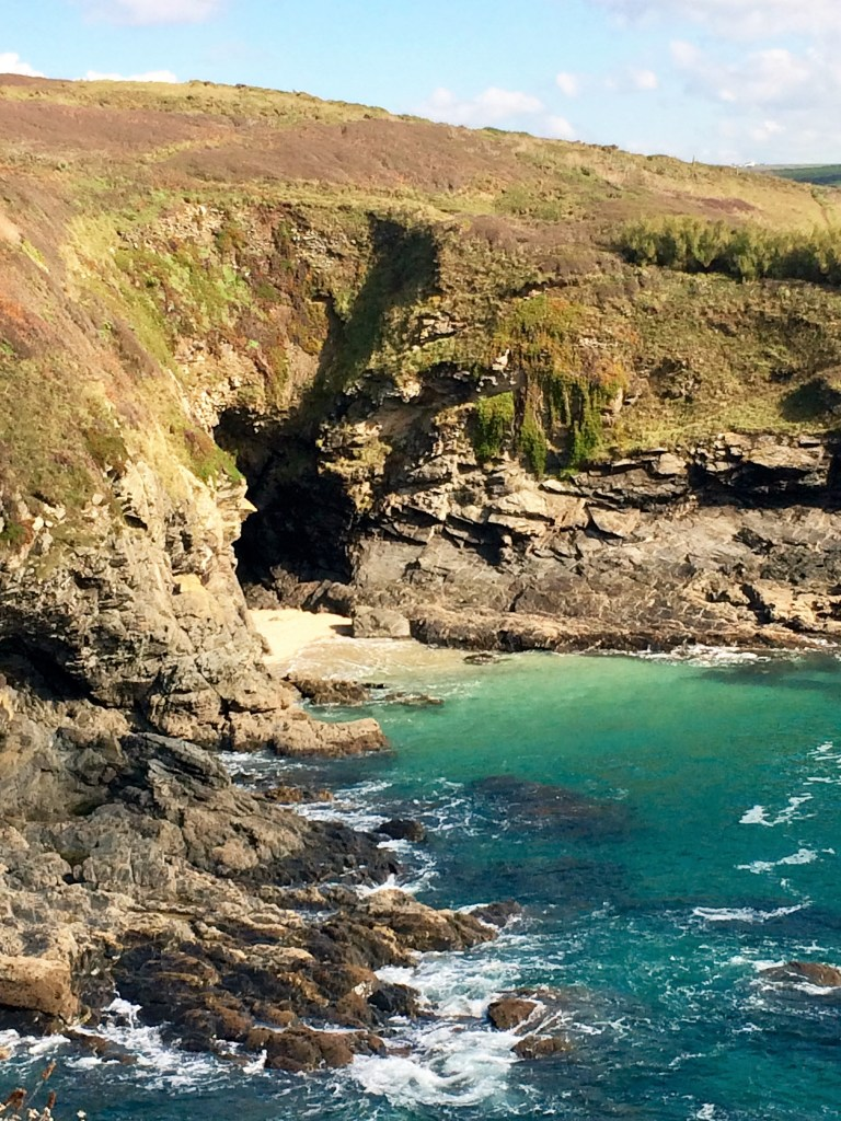 Piskies Cove at Prussia with a secluded sandy beach