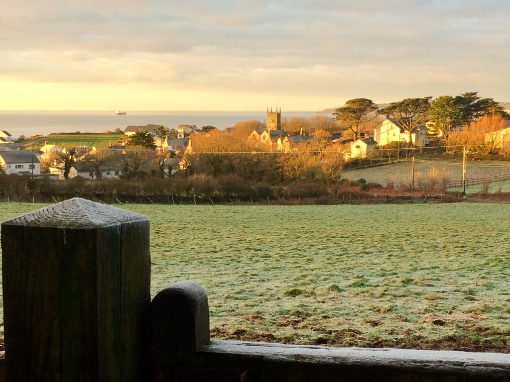Winter landscape below the Ednovean Farm garden