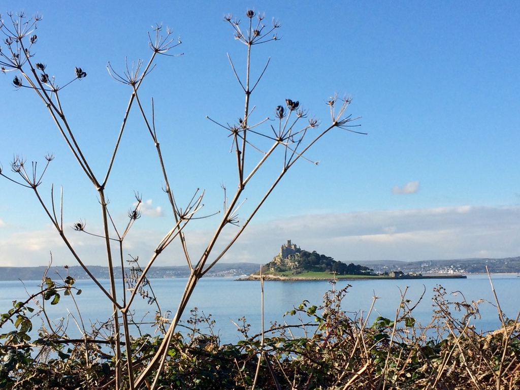 A winter view over St Michael's Mount