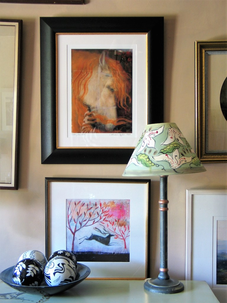 Bespoke hand painted lampshades from Bloomsbury Revisited