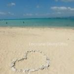 幻の島浜島にてハートが作られてた